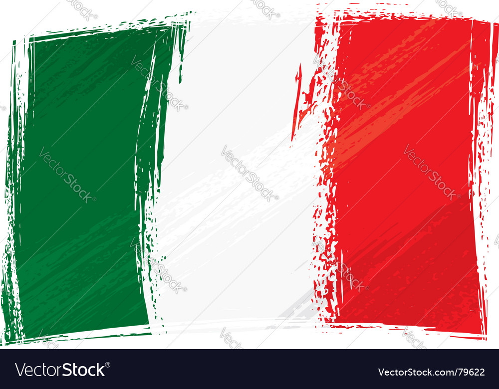 Grunge italy flag vector | Price: 1 Credit (USD $1)