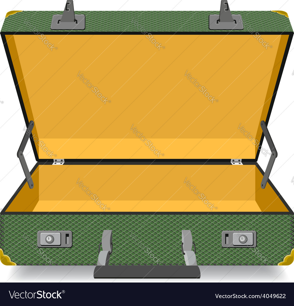 Opened suitcase isolated vector | Price: 1 Credit (USD $1)