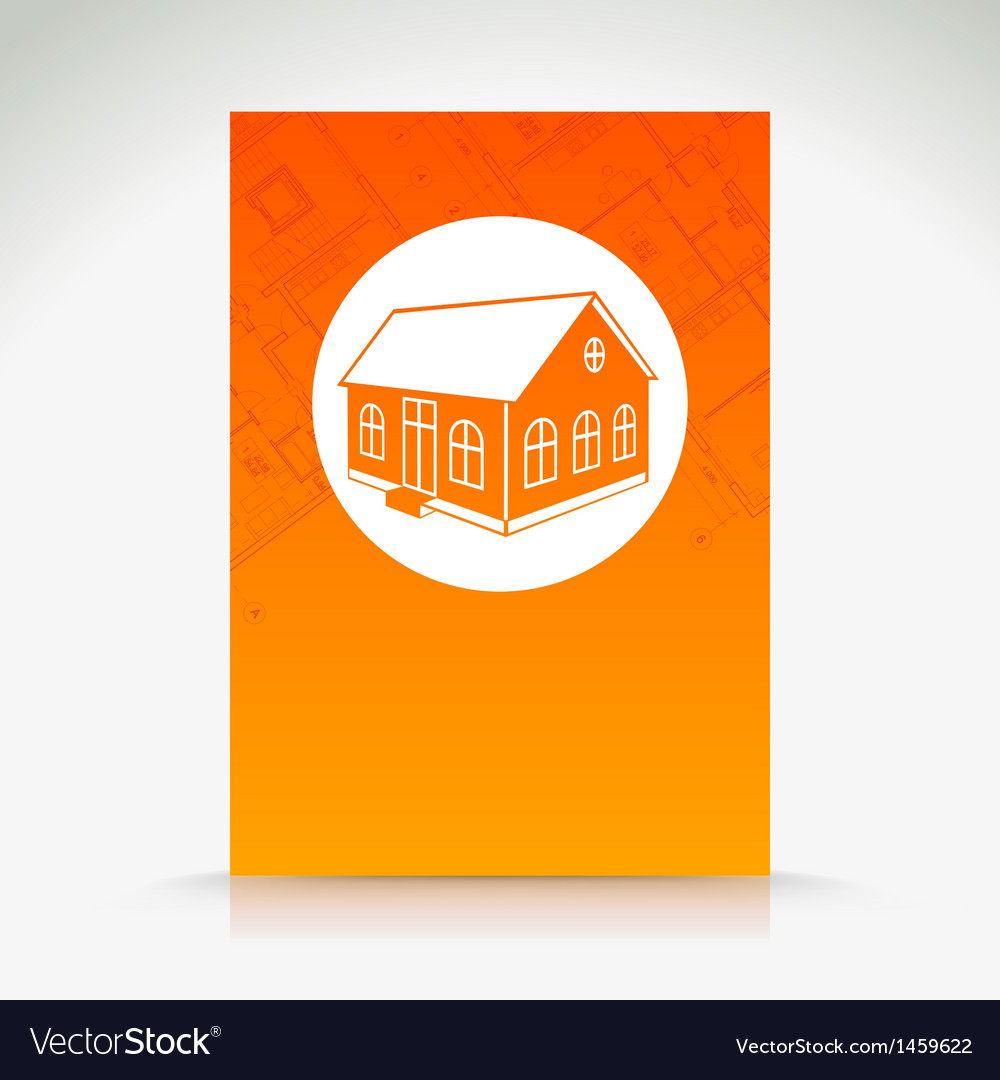 Orange house pattern vector | Price: 1 Credit (USD $1)