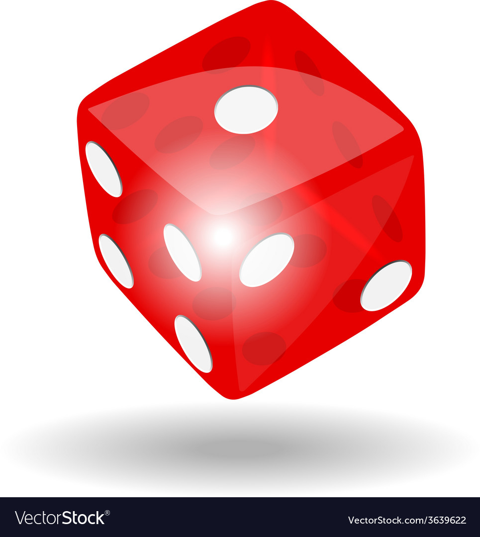 Red dice vector | Price: 1 Credit (USD $1)
