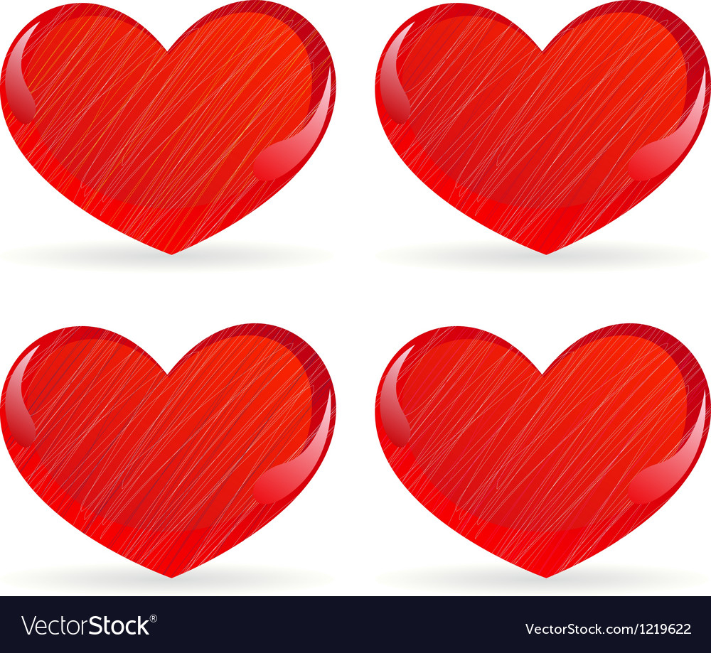Set of striped hearts 2 vector | Price: 1 Credit (USD $1)