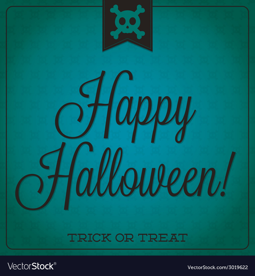 Skull and crossbones retro typographic halloween vector | Price: 1 Credit (USD $1)