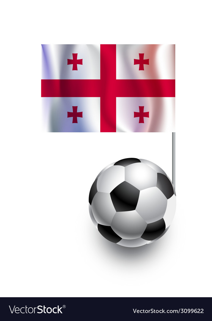 Soccer balls or footballs with flag of georgia vector | Price: 1 Credit (USD $1)