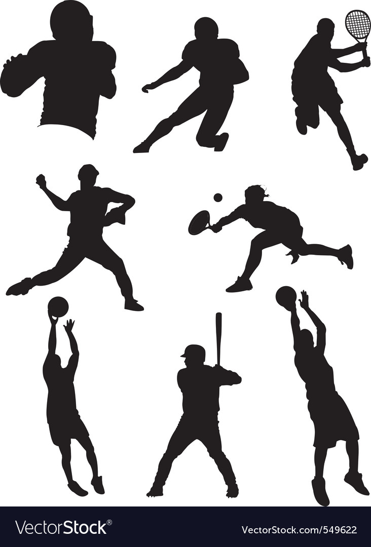Sports athletes vector | Price: 1 Credit (USD $1)