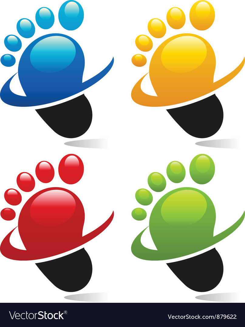 Swoosh foot icons vector | Price: 1 Credit (USD $1)