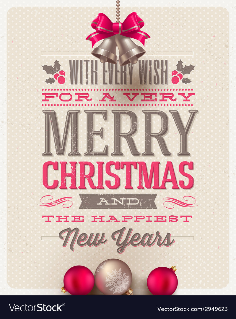 Christmas type design and holidays decoration vector | Price: 3 Credit (USD $3)