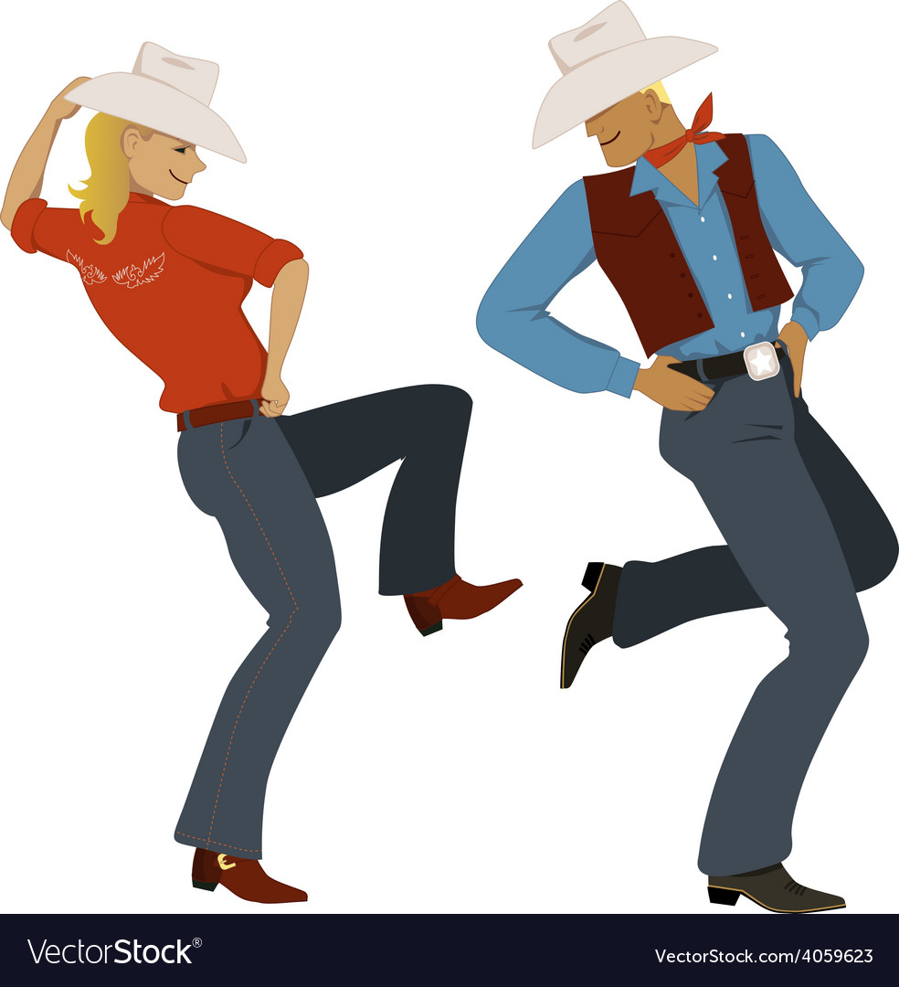 Cowboy dancing vector | Price: 1 Credit (USD $1)