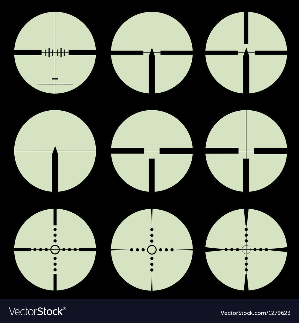 Cross hair and target set vector | Price: 1 Credit (USD $1)