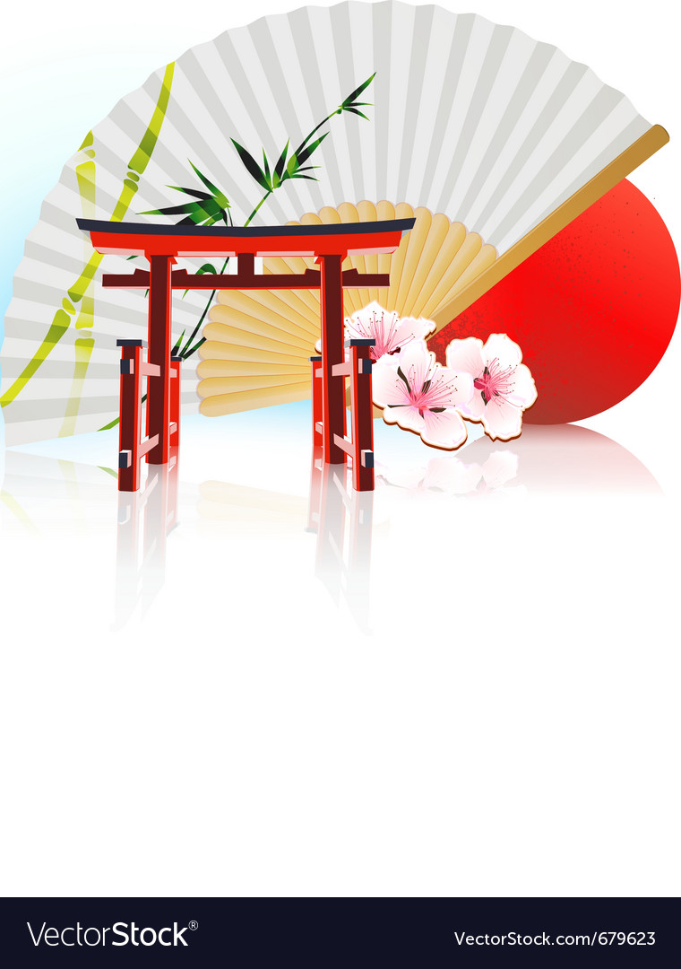Decorative traditional japanese background vector | Price: 3 Credit (USD $3)