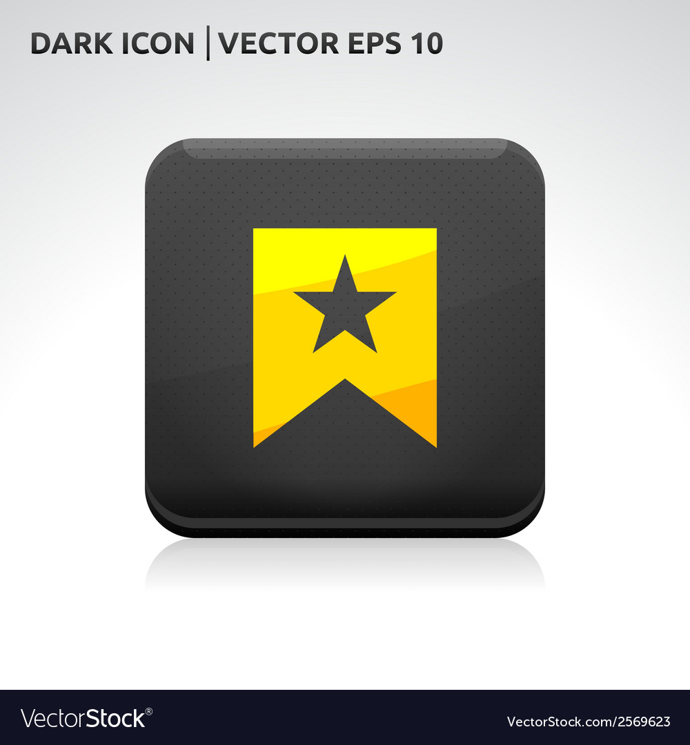 Favorite icon gold vector | Price: 1 Credit (USD $1)