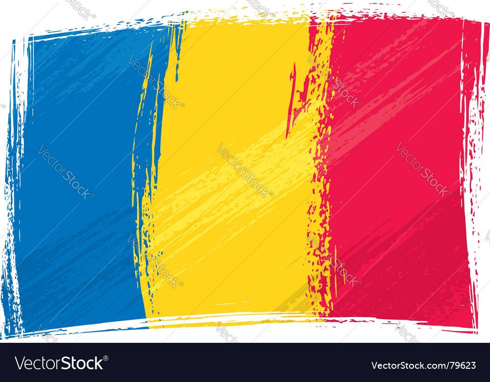 Grunge romania flag vector | Price: 1 Credit (USD $1)