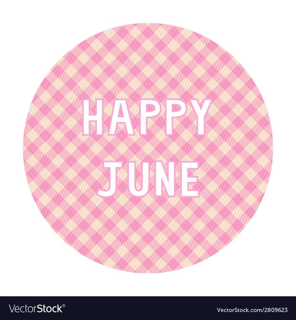 Happy june background4 vector