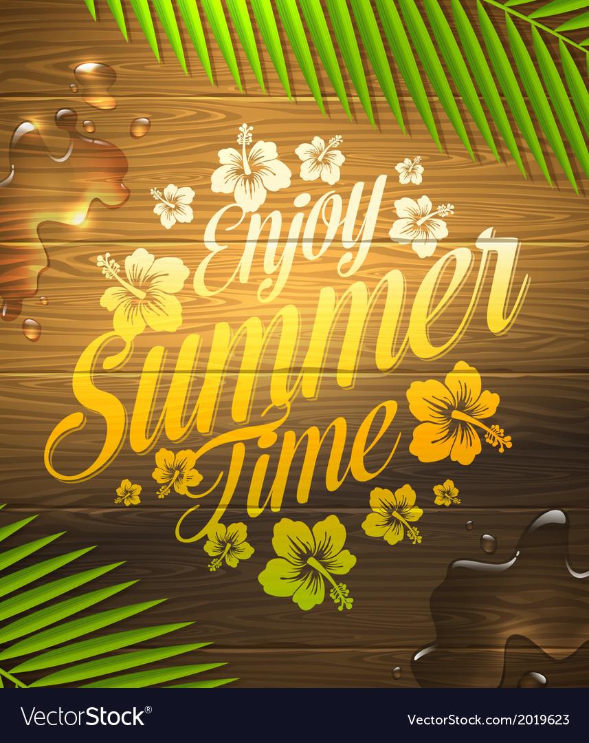 Summer holidays type design vector   Price: 1 Credit (USD $1)