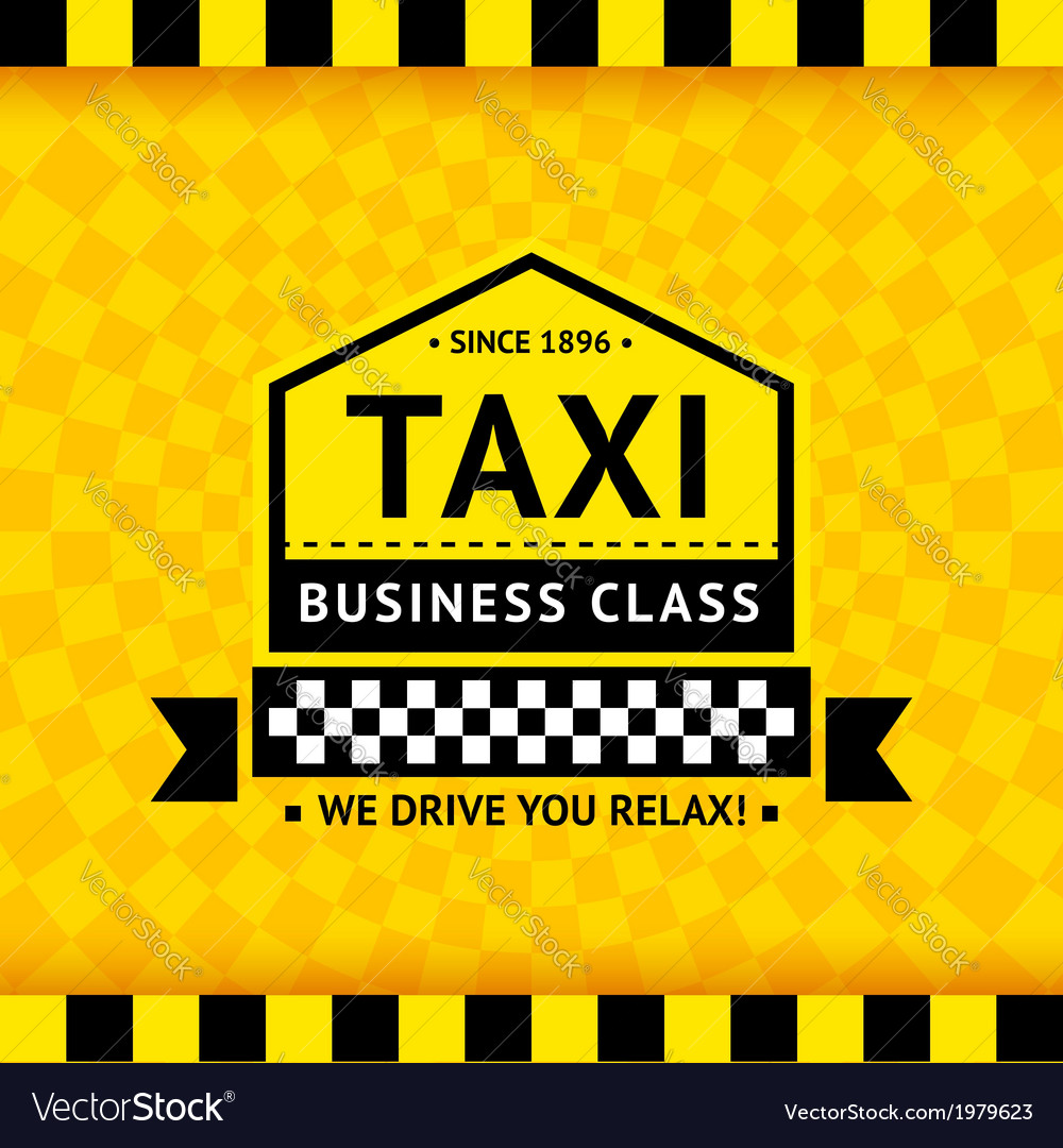 Taxi symbol with checkered background - 06 vector | Price: 1 Credit (USD $1)