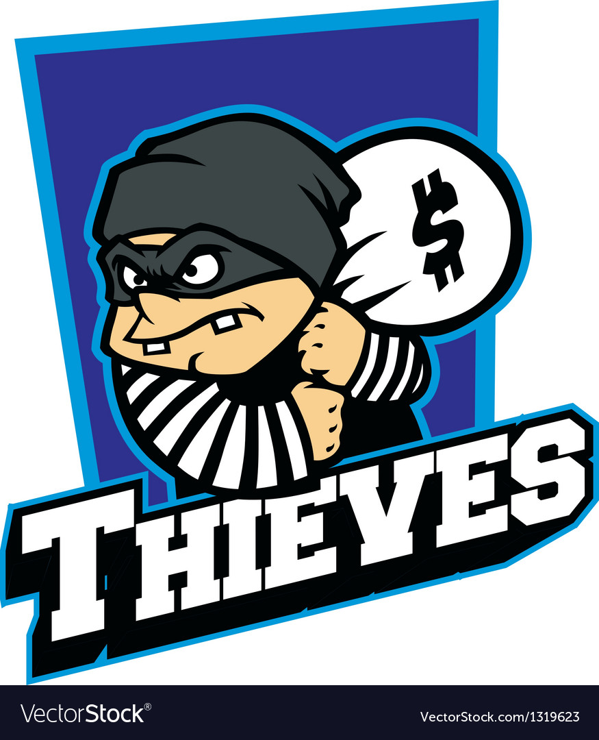 Thieves mascot vector | Price: 1 Credit (USD $1)