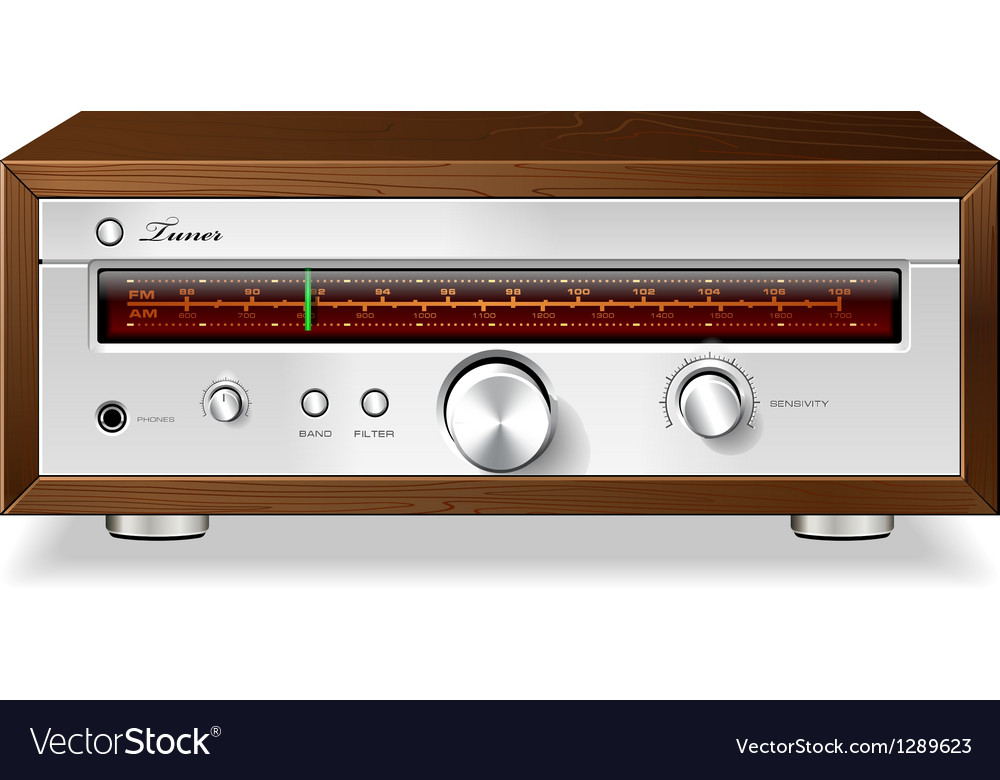 Vintage stereo analog radio vector | Price: 3 Credit (USD $3)