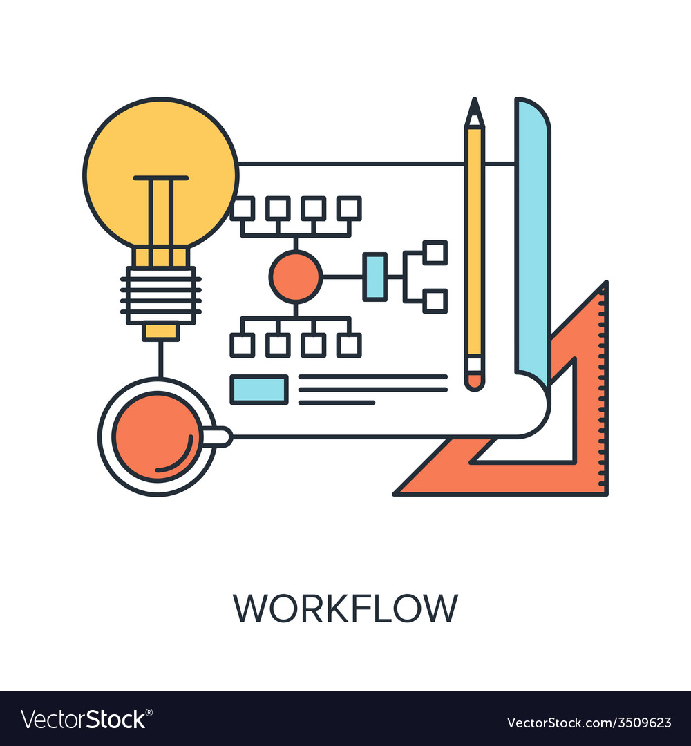 Workflow vector | Price: 1 Credit (USD $1)
