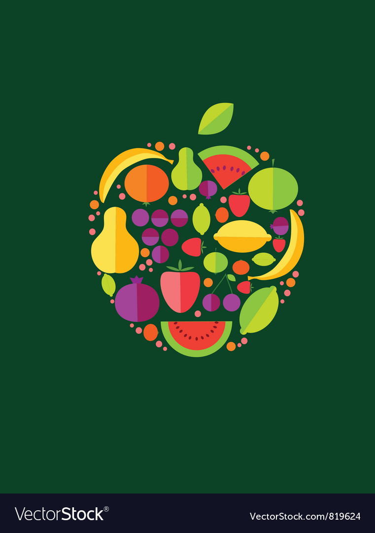Apple from fruit vector | Price: 1 Credit (USD $1)