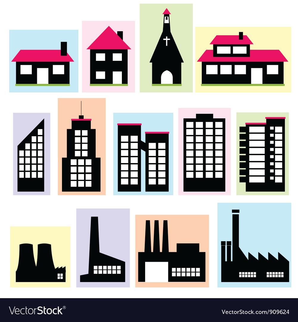 Buildings vector | Price: 3 Credit (USD $3)