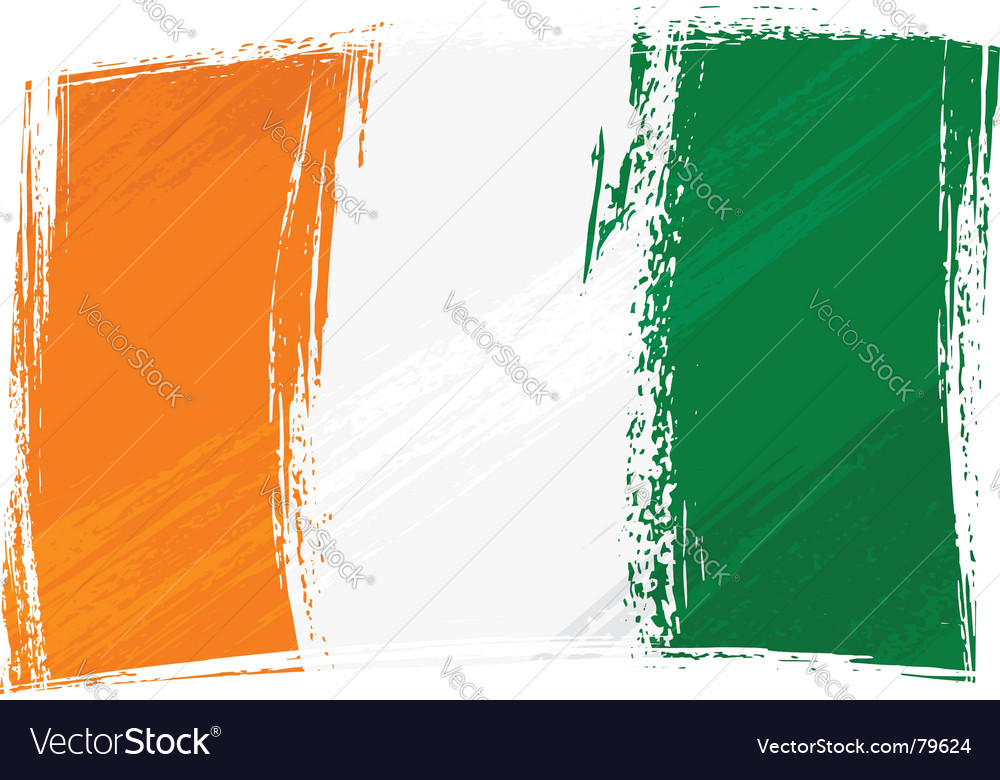 Grunge cote d'ivoire flag vector | Price: 1 Credit (USD $1)