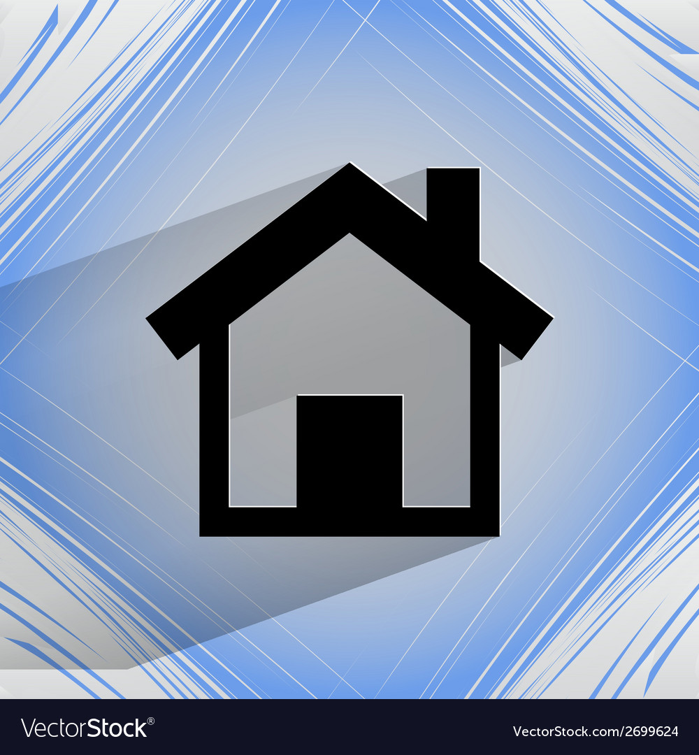 House flat modern web design on a flat geometric vector | Price: 1 Credit (USD $1)