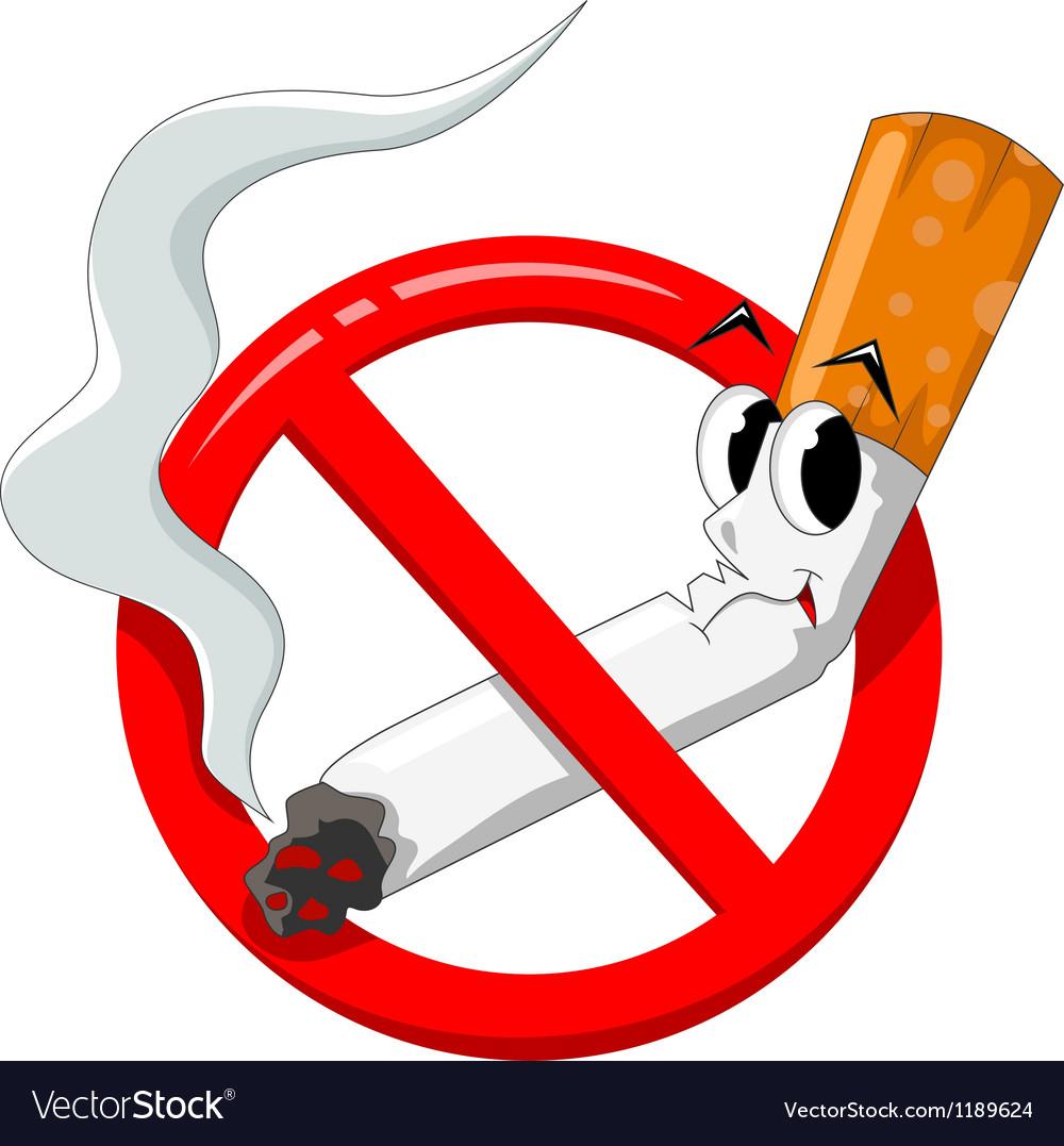 No smoking cartoon vector | Price: 1 Credit (USD $1)