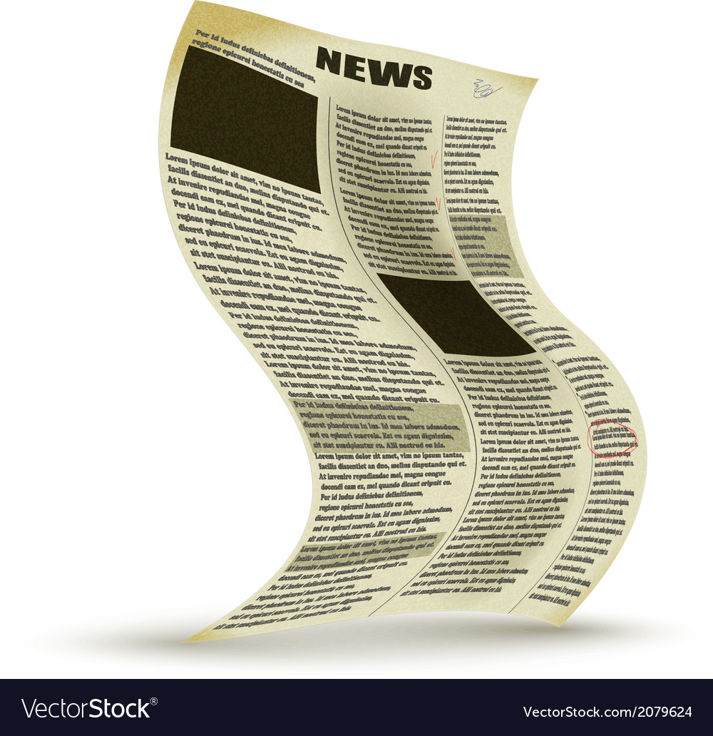 Old newspaper vector | Price: 1 Credit (USD $1)