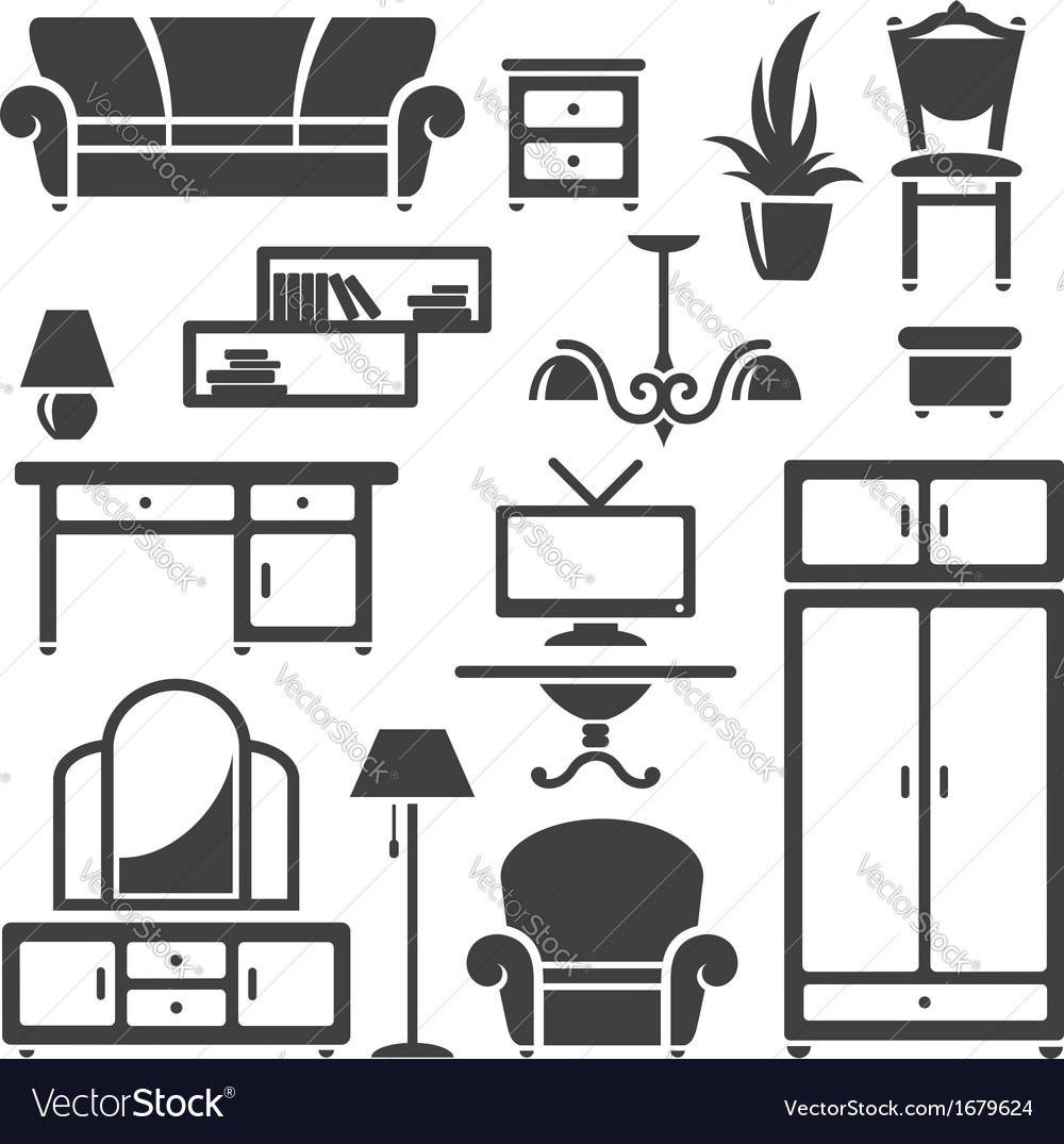 Room furniture vector | Price: 1 Credit (USD $1)