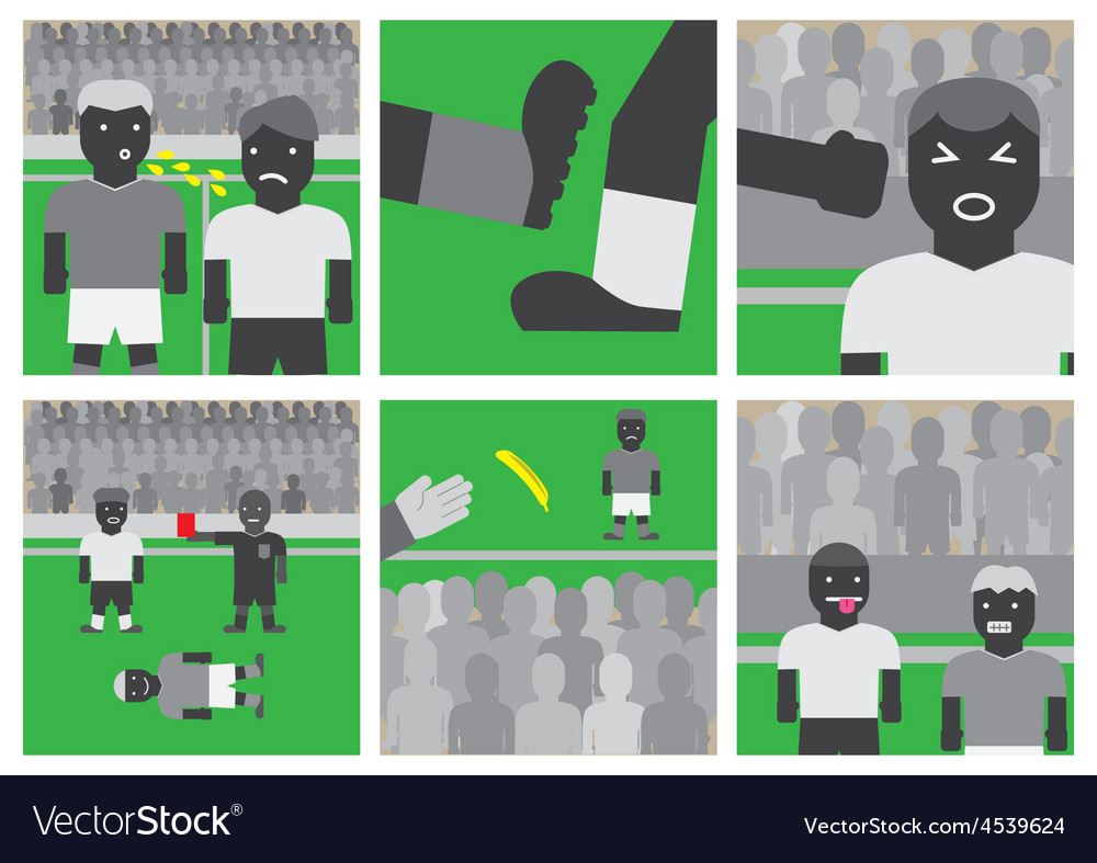Soccer unsportsmanlike conduct vector | Price: 1 Credit (USD $1)