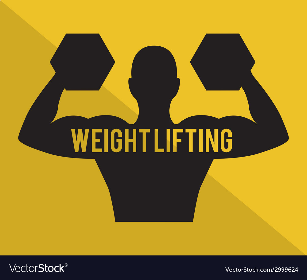 Weight lifting design vector | Price: 1 Credit (USD $1)