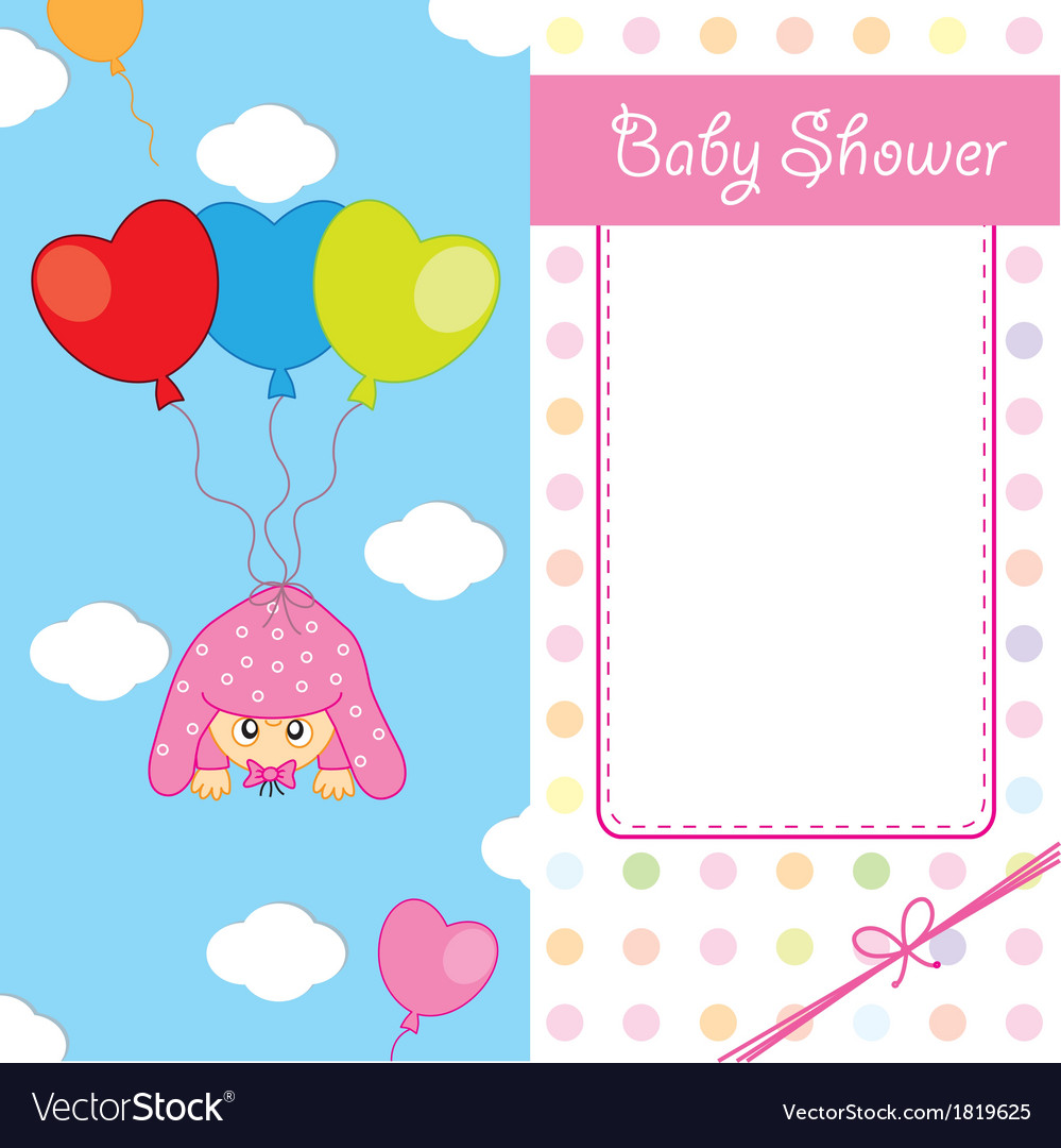 Baby girl birth card vector | Price: 1 Credit (USD $1)