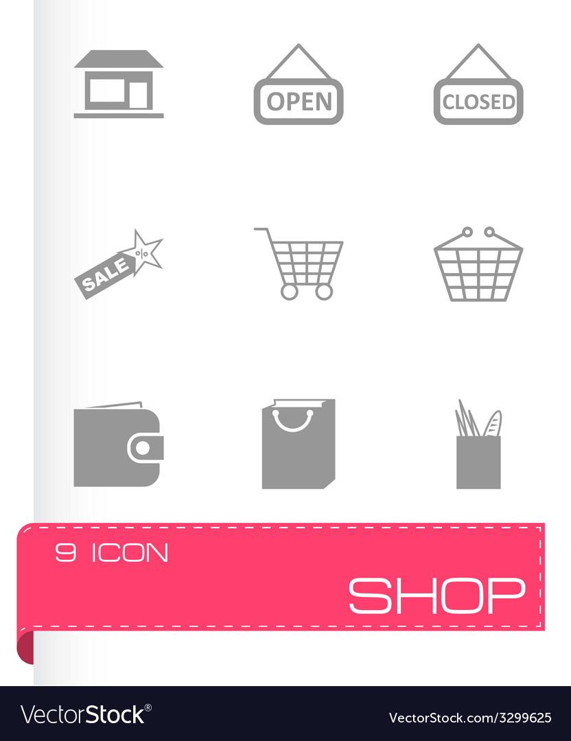 Black shop icons set vector   Price: 1 Credit (USD $1)