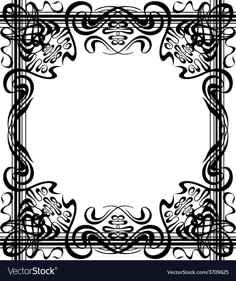 Flourishes border vector | Price: 1 Credit (USD $1)