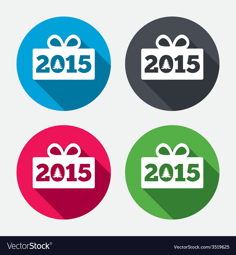 Happy new year 2015 sign icon christmas gift vector | Price: 1 Credit (USD $1)
