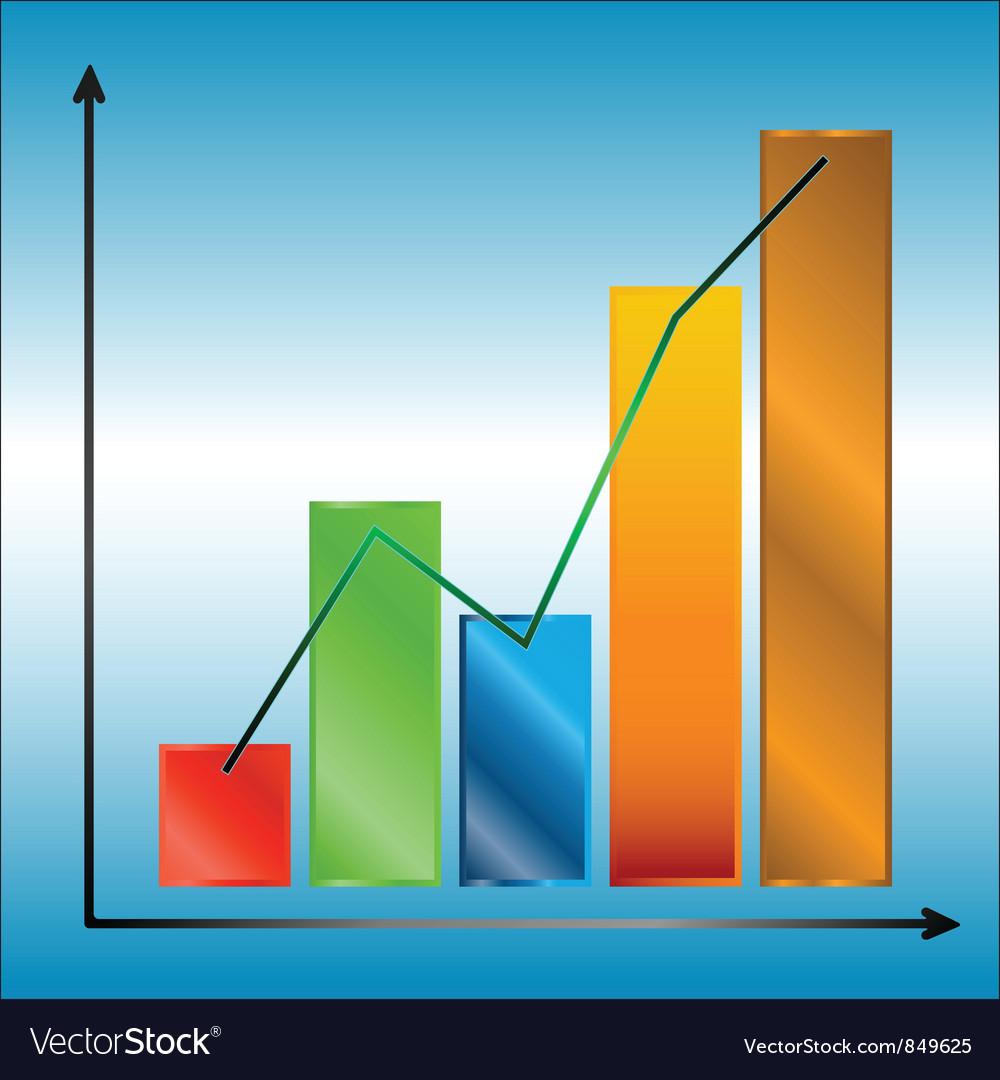 Multi colored chart vector | Price: 1 Credit (USD $1)