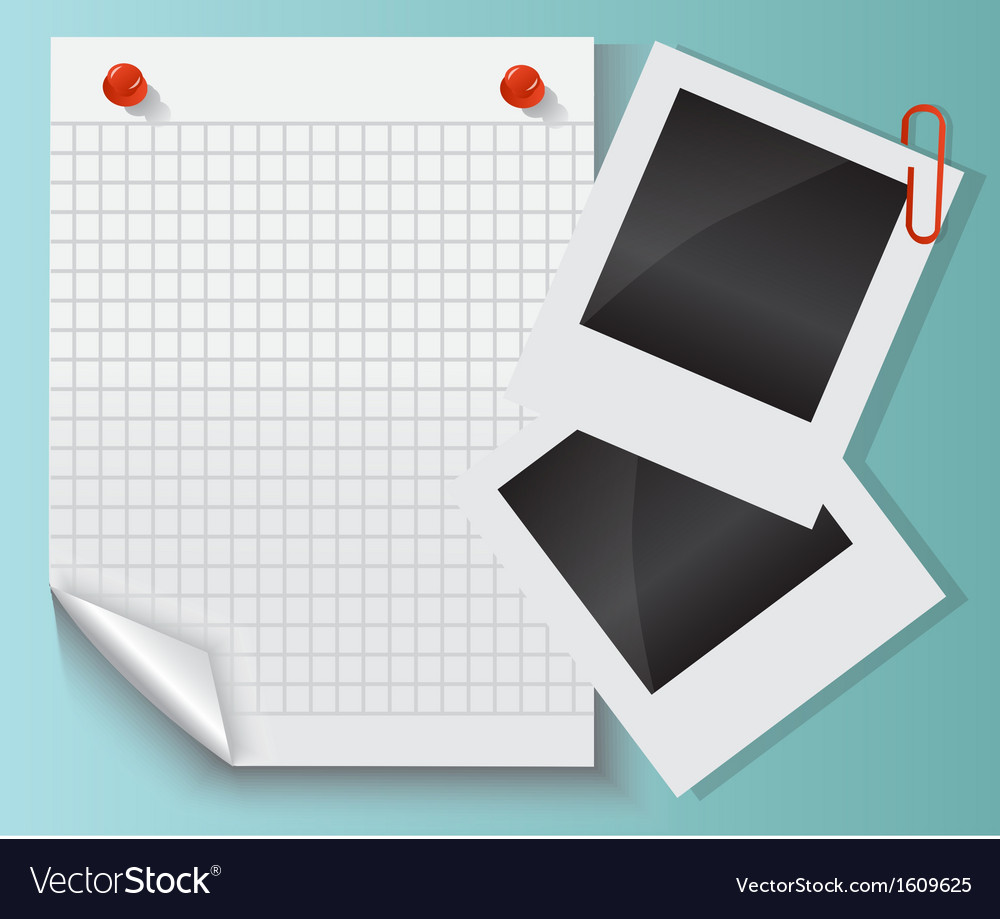 Paper photos and clips vector | Price: 1 Credit (USD $1)