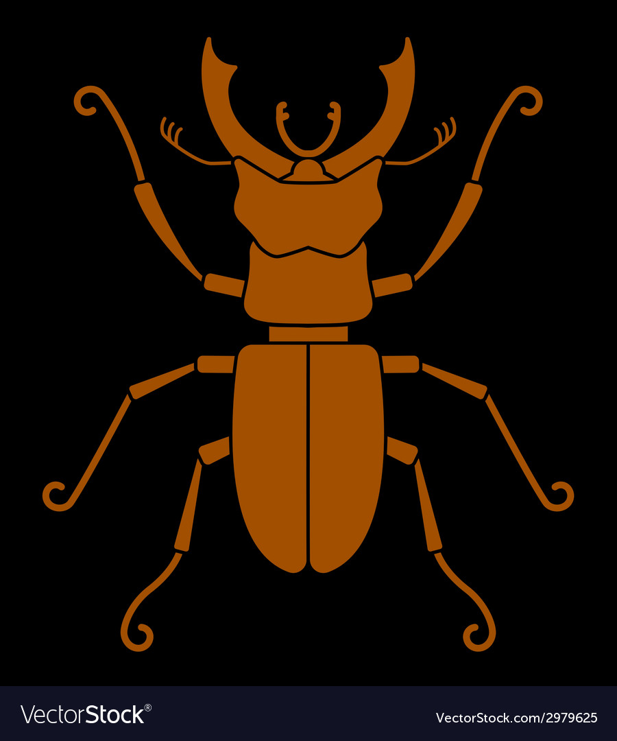 Stag beetle vector | Price: 1 Credit (USD $1)