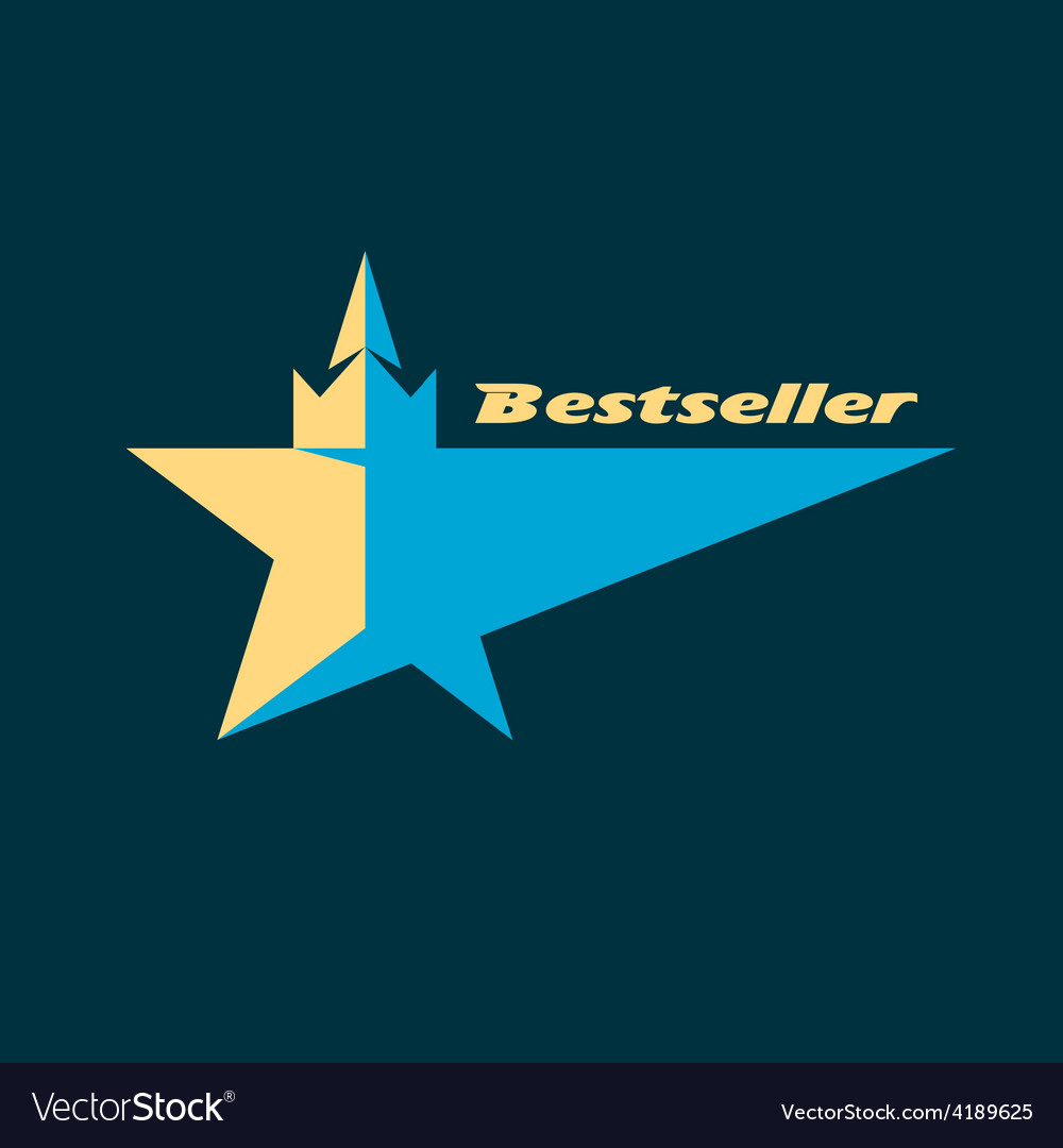 Star logo for the bestsellers vector | Price: 1 Credit (USD $1)
