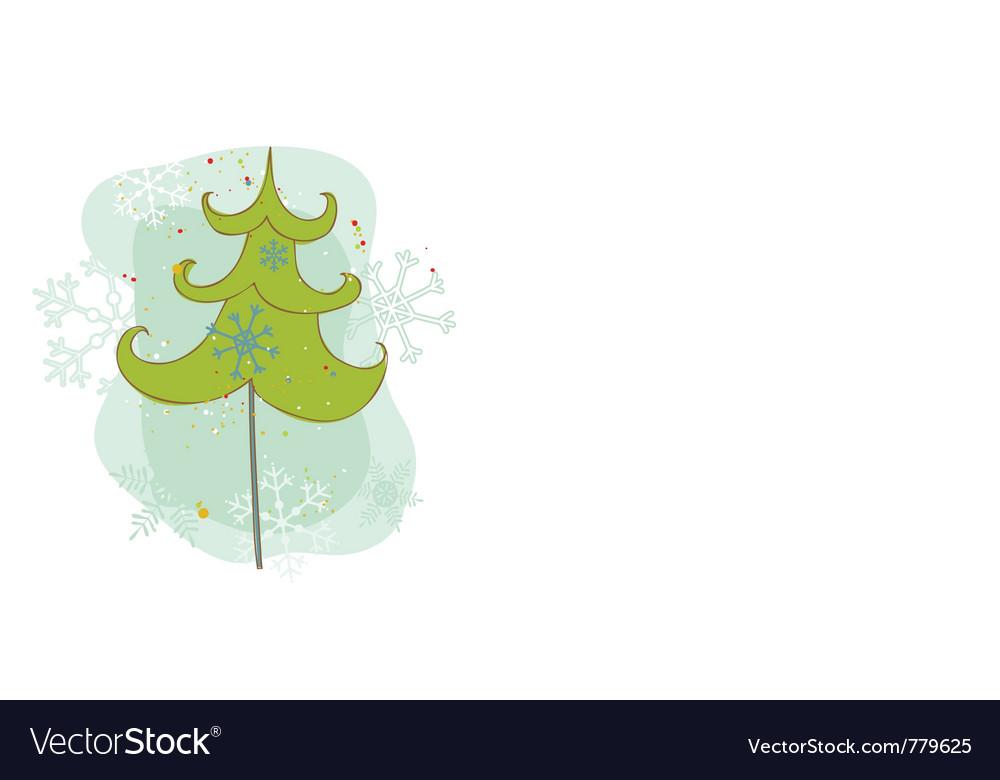 Vintage christmas tree card vector   Price: 1 Credit (USD $1)