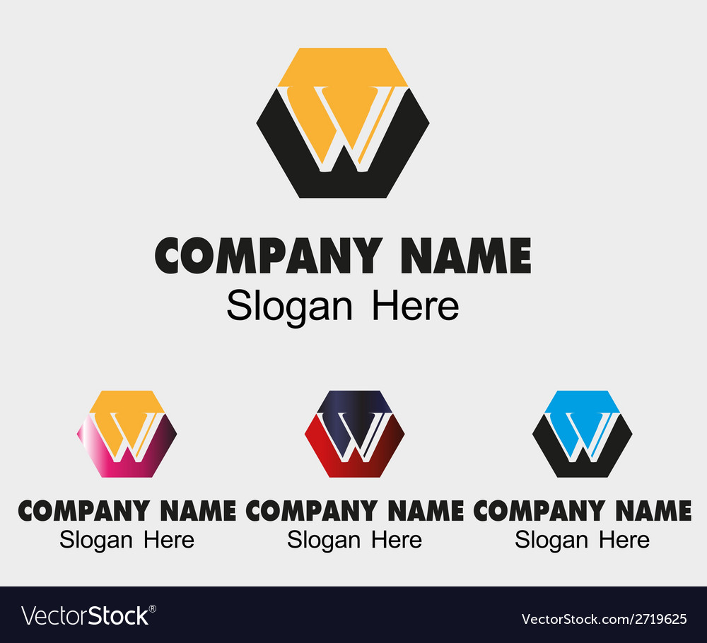 W letter logo sample - template letter w vector | Price: 1 Credit (USD $1)