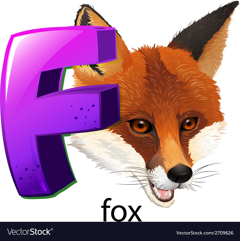 A letter f for fox vector | Price: 3 Credit (USD $3)