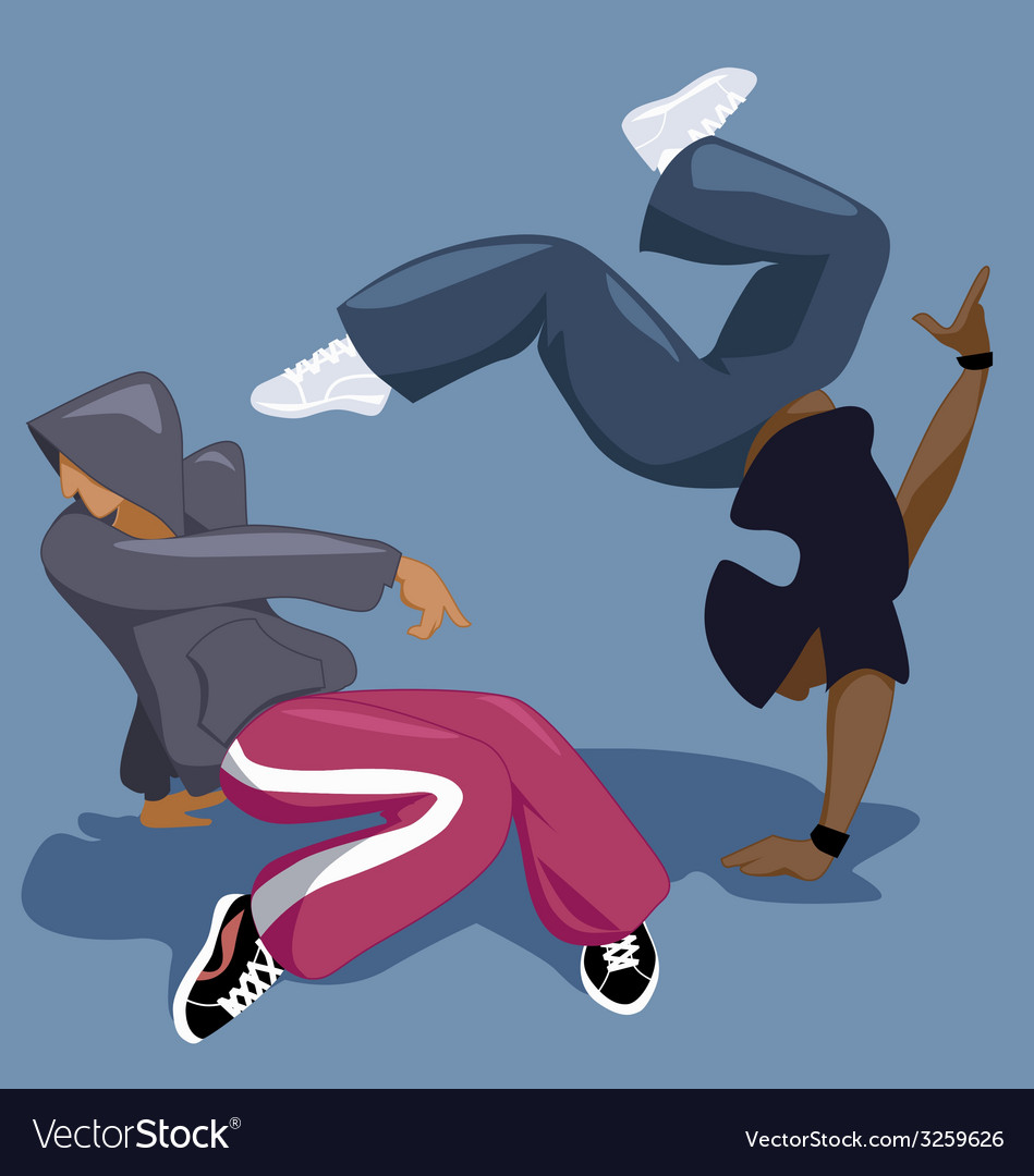 Break dancers vector | Price: 1 Credit (USD $1)