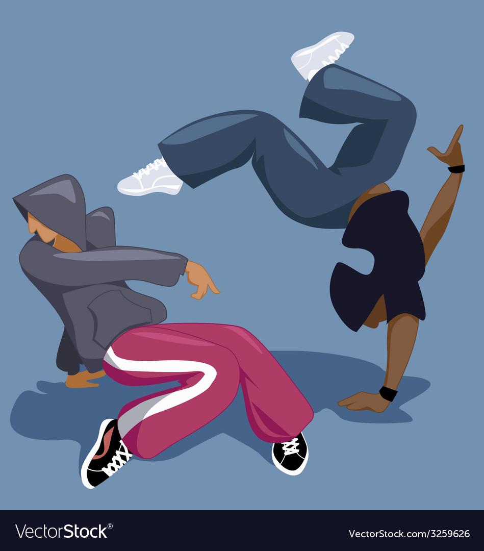 Break dancers vector | Price: 1 Credit (USD $1)