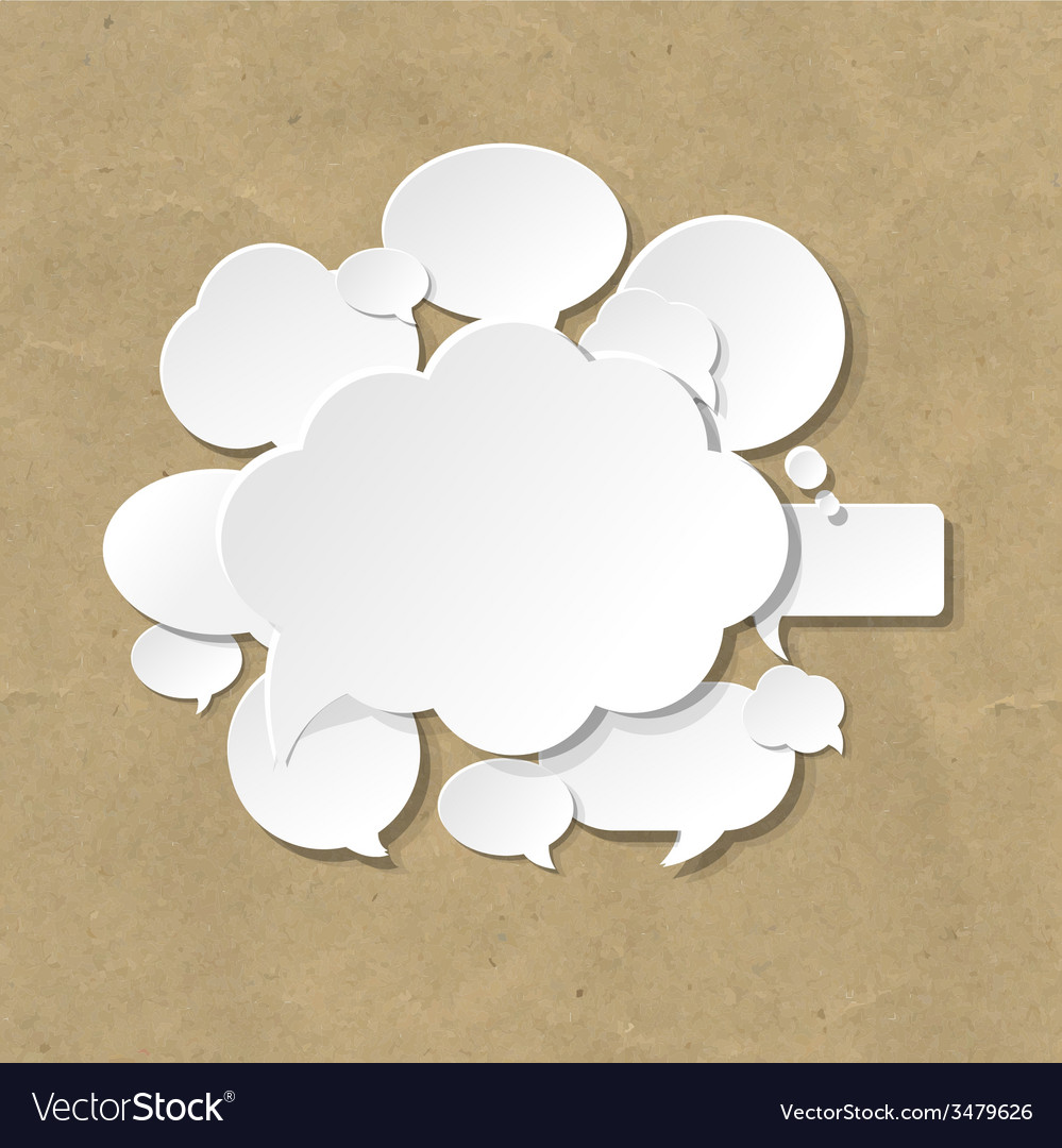 Cardboard with speech bubble vector | Price: 1 Credit (USD $1)