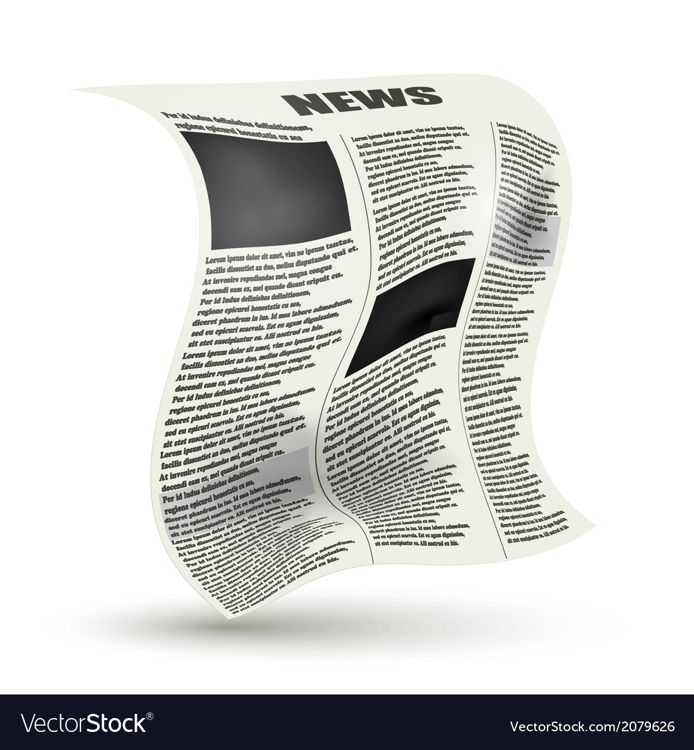 Crumpled newspaper vector | Price: 1 Credit (USD $1)