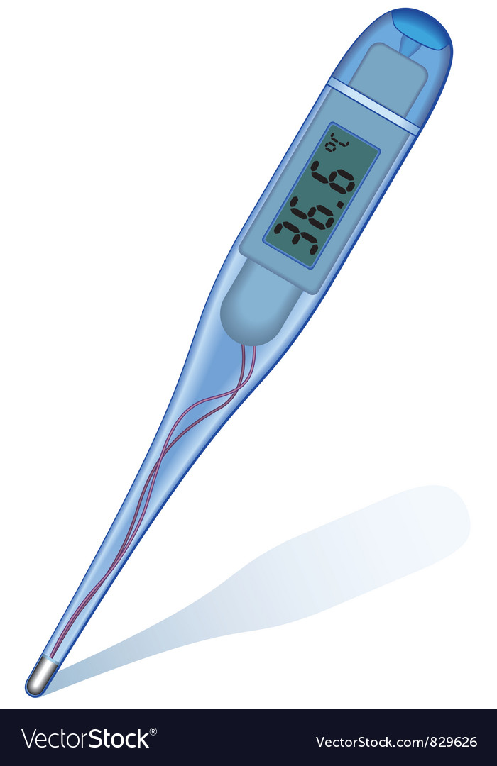 Digital thermometer vector | Price: 1 Credit (USD $1)