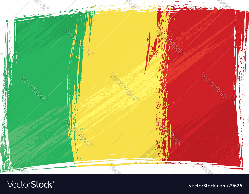 Grunge mali flag vector | Price: 1 Credit (USD $1)