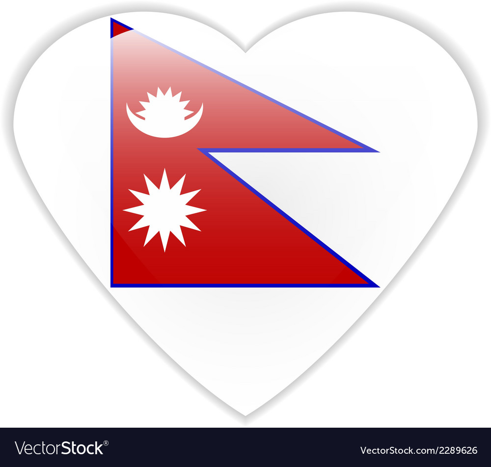 Nepal flag button vector | Price: 1 Credit (USD $1)