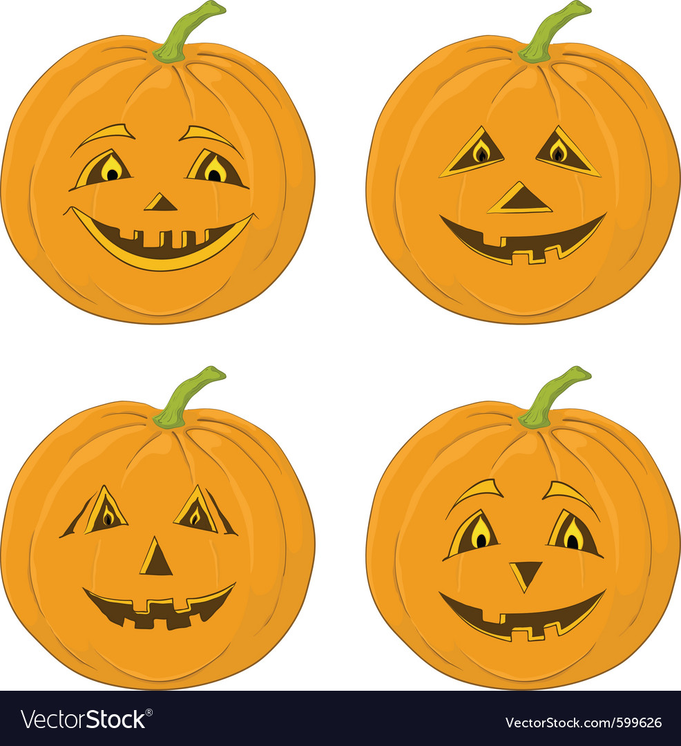 Pumpkin jack o lanterns vector | Price: 1 Credit (USD $1)