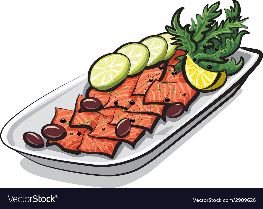 Salmon carpaccio vector | Price: 1 Credit (USD $1)
